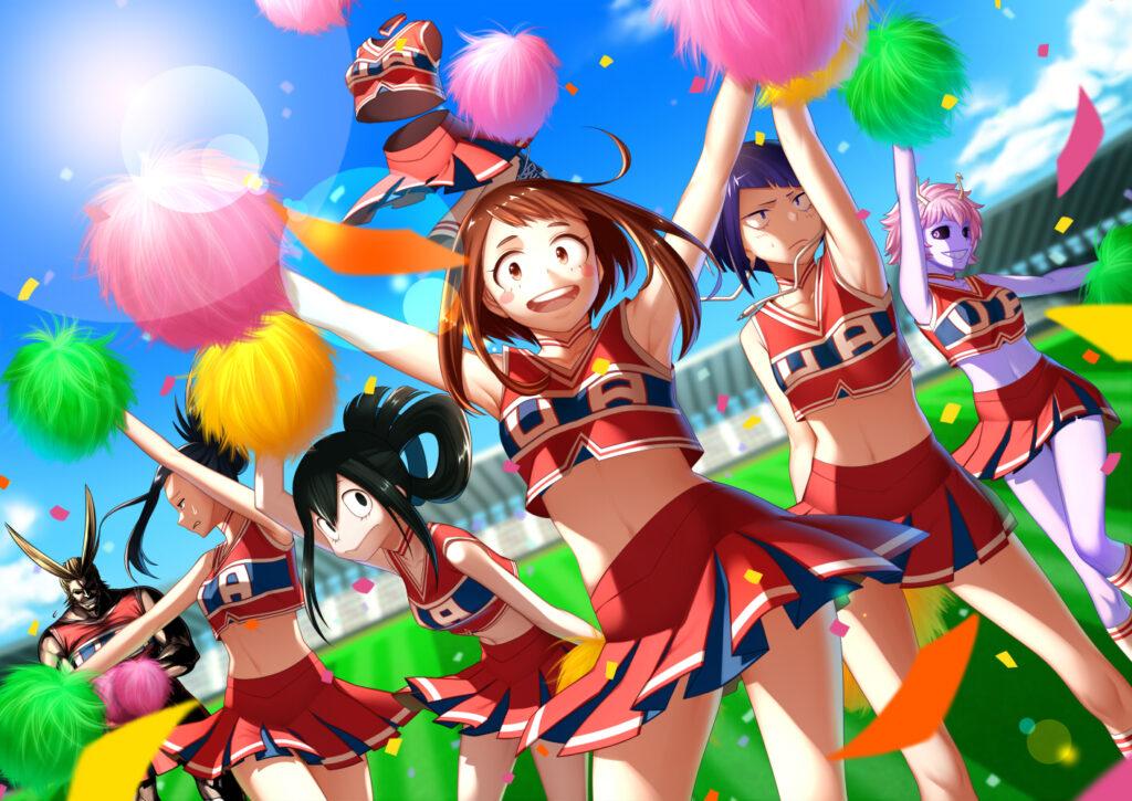 Les pom-pom girls du stade !
