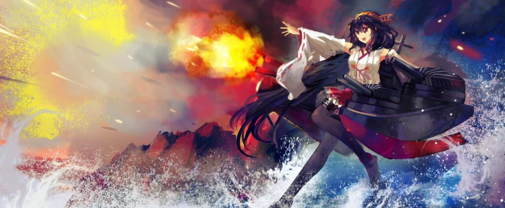 L'arrivée d'Atsu' sur scène ! (C'est fou comme il ressemble à Haruna de Kantai Collection, non ? :D)